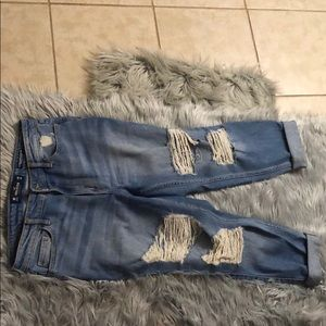 Hollister high rise distressed jeans